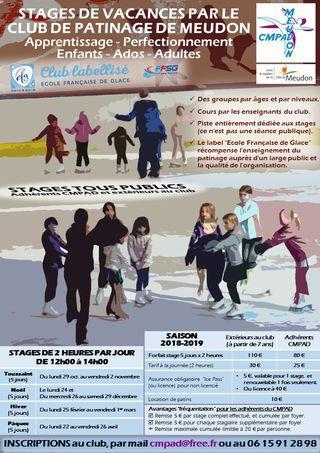 Meudon - Stage vacances patinoire